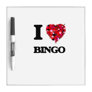 I Love Bingo Dry Erase Boards