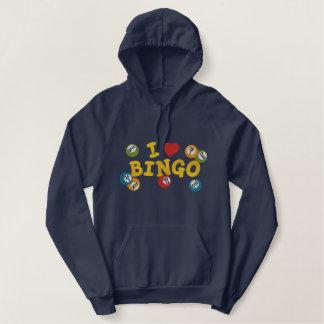 I Love Bingo Embroidered Hoodie