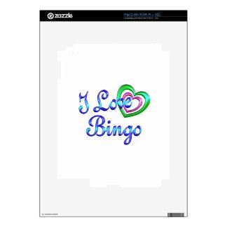 I Love Bingo iPad 2 Decals