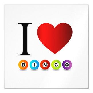 I love bingo magnetic card