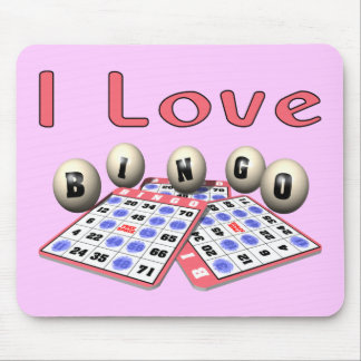 I Love Bingo Mouse Pad