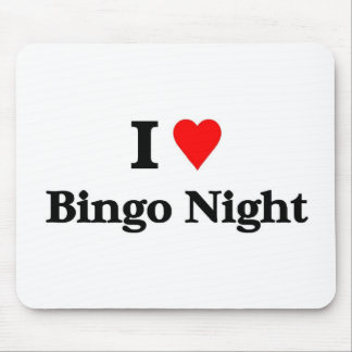 I love bingo night mouse pad