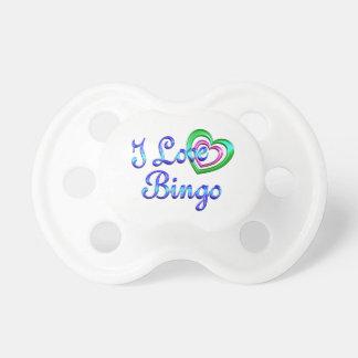 I Love Bingo Pacifiers