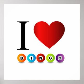 I love bingo poster