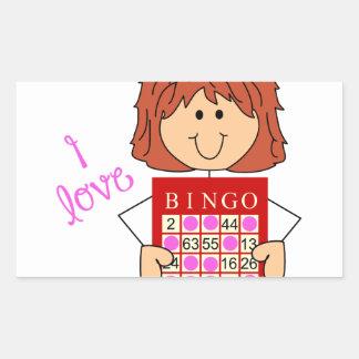 I Love Bingo Rectangular Sticker