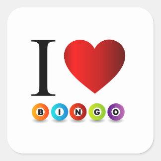 I love bingo square sticker