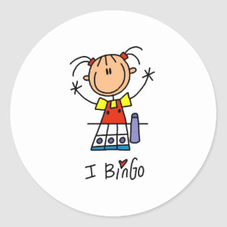 I Love Bingo Stickers