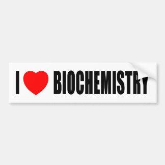 I Love Biochemistry Bumper Stickers
