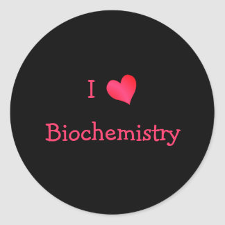 I Love Biochemistry Classic Round Sticker