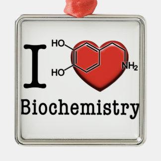I Love Biochemistry Metal Ornament