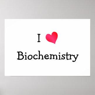 I Love Biochemistry Poster