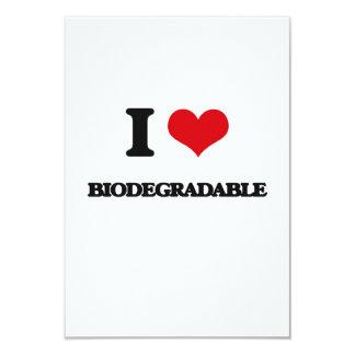 I Love Biodegradable 3.5x5 Paper Invitation Card