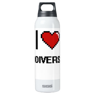 I Love Biodiversity Digital Design 16 Oz Insulated SIGG Thermos Water Bottle