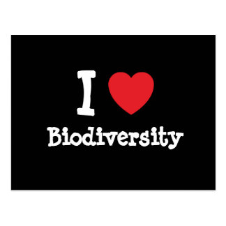 I love Biodiversity heart custom personalized Postcard