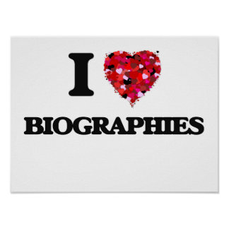 I Love Biographies Poster