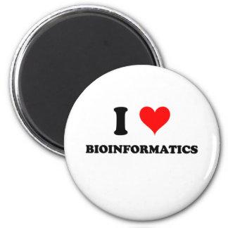 I Love Bioinformatics 2 Inch Round Magnet
