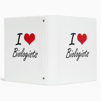 I Love Biologists Artistic Design Vinyl Binder