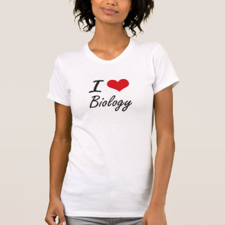 I Love Biology Artistic Design T-Shirt
