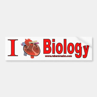I Love Biology Bumper Sticker