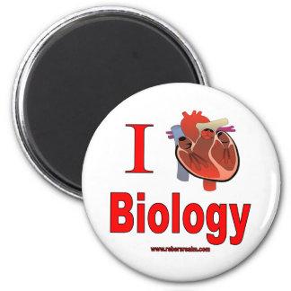 I love biology 2 inch round magnet