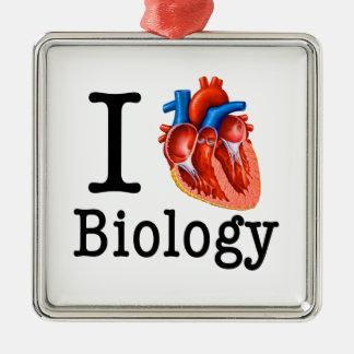 I love Biology Metal Ornament