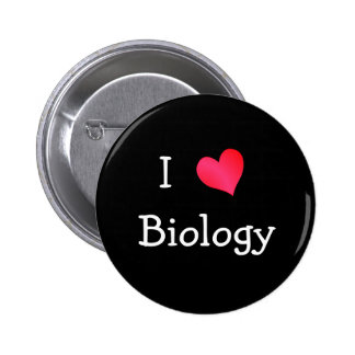 I Love Biology Pinback Button
