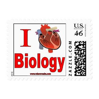 I Love Biology Postage