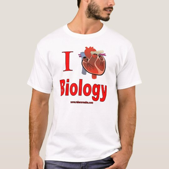 Fitness Biology: I Love Biology T-Shirt