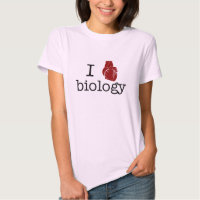 I love biology - with an anatomical heart! t shirts