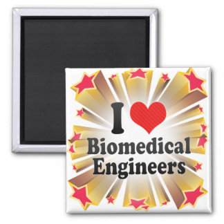 I Love Biomedical Engineers 2 Inch Square Magnet