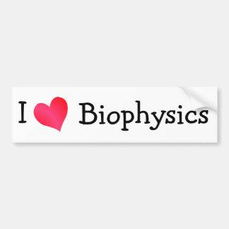 I Love Biophysics Bumper Sticker