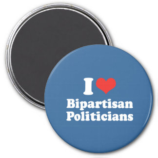 I LOVE BIPARTISAN POLITICIA - png Fridge Magnets