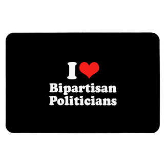 I LOVE BIPARTISAN POLITICIA png Flexible Magnets
