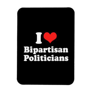 I LOVE BIPARTISAN POLITICIA png Magnet