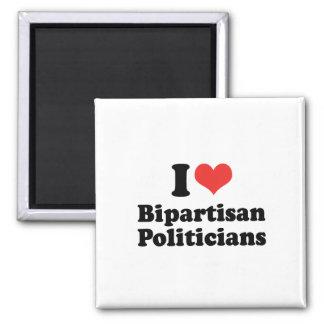 I LOVE BIPARTISAN POLITICIANS - png Magnet