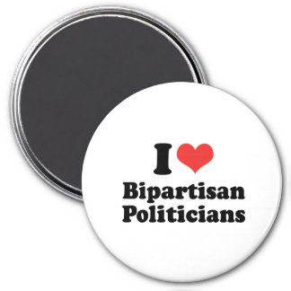 I LOVE BIPARTISAN POLITICIANS - png Refrigerator Magnet