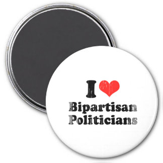 I LOVE BIPARTISAN POLITICIANS png Refrigerator Magnets