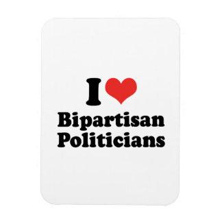 I LOVE BIPARTISAN POLITICIANS - png Vinyl Magnets