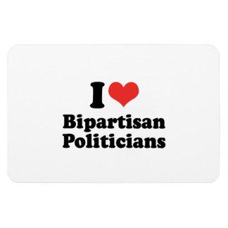 I LOVE BIPARTISAN POLITICIANS - png Rectangular Magnets