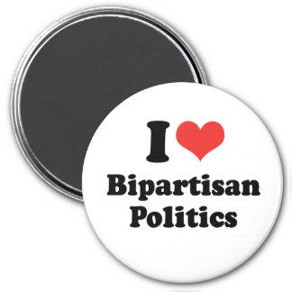 I LOVE BIPARTISAN POLITICS - png Refrigerator Magnets