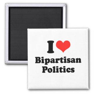 I LOVE BIPARTISAN POLITICS png Magnet