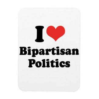 I LOVE BIPARTISAN POLITICS - png Vinyl Magnet
