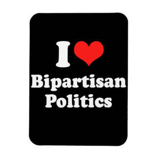 I LOVE BIPARTISAN POLITICS png Rectangular Magnets