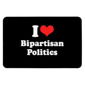 I LOVE BIPARTISAN POLITICS png Magnets