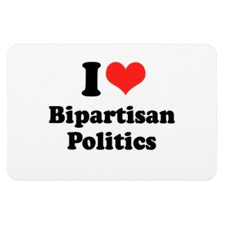I LOVE BIPARTISAN POLITICS png Rectangle Magnets