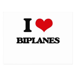 I Love Biplanes Postcards