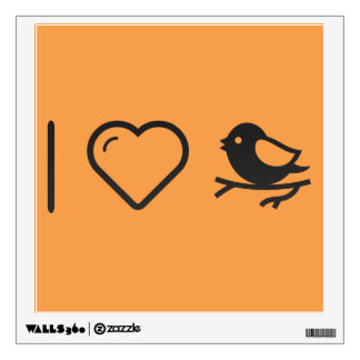 I Love Bird Nests Wall Decal