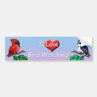 I Love Bird Watching Bumper Sticker