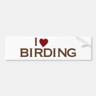 I Love Birding Car Bumper Sticker