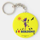 I Love Birding Key Chain